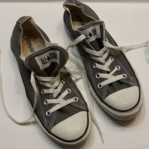 Converse All Star gray/white unisex shoes.